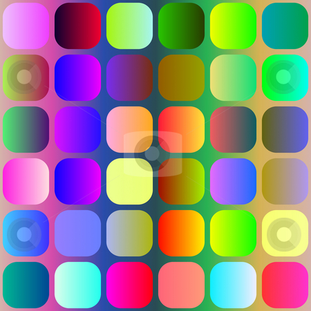 Bright squares pattern stock photo, Seamless texture of colorful rounded square dots by Wino Evertz