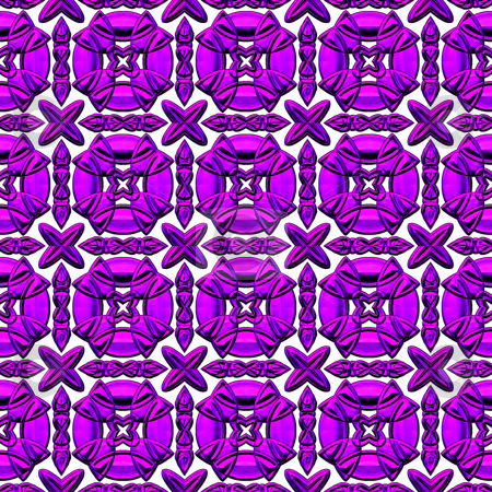 Violet lace pattern stock photo, Seamless texture of geometric violet to pink shapes on white by Wino Evertz