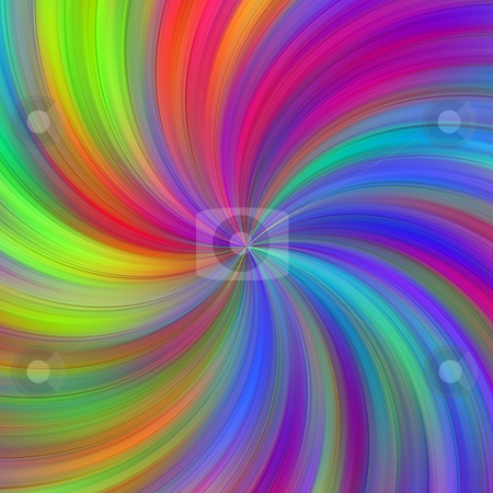Colorful swirl stock photo, Texture of many bright colors in a centered whirlpool by Wino Evertz