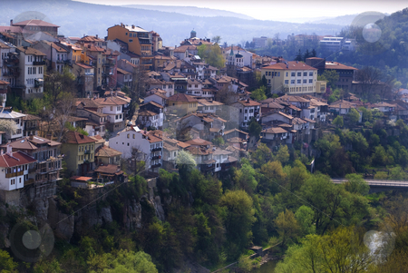 City view old houses stock photo, City view with old houses Veliko Turnovo Bulgaria by Desislava Dimitrova
