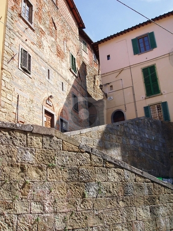 Tuscany stock photo, Walls and buildings in Tuscany by Jaime Pharr