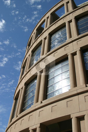 Vancouver Library Square stock photo, A close-up view of the rotunda portion of Vancouver Public Library. by Rick Parsons