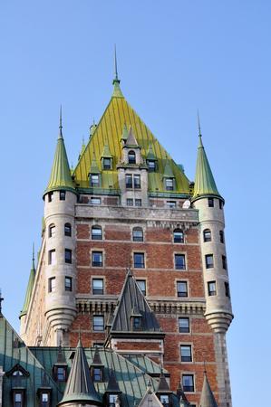 Chateau Frontenac stock photo, Quebec City landmark by Fernando Barozza