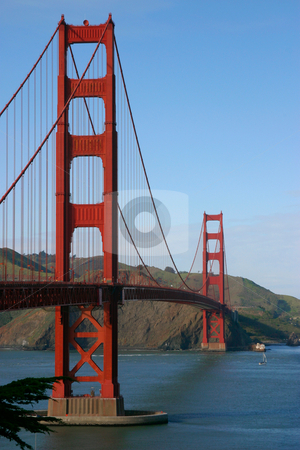 Golden Gate Bridge, San Francisco stock photo, The GGB as viewed from the Presidio. by Rick Parsons