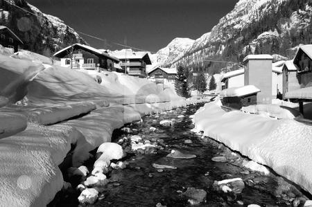 Village in the alps stock photo, Village in the alps (Val Formazza, Italy) by ALESSANDRO TERMIGNONE