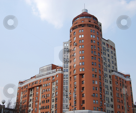 Skyscraper stock photo, Business center real estate elite by Leyla Akhundova