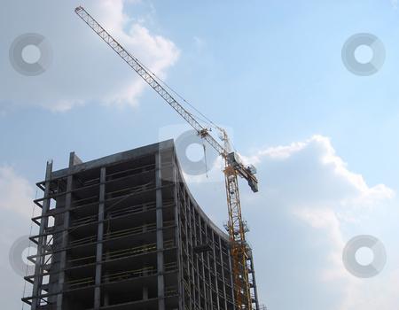 Construction stock photo, Construction of hotel and business center by Leyla Akhundova