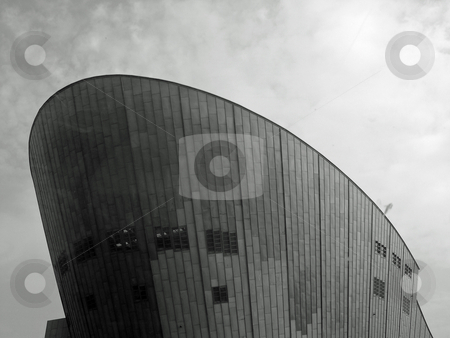 NEMO museum, Amsterdam stock photo, Black and white image of NEMO museum in Amsterdam Netherlands by Jaime Pharr