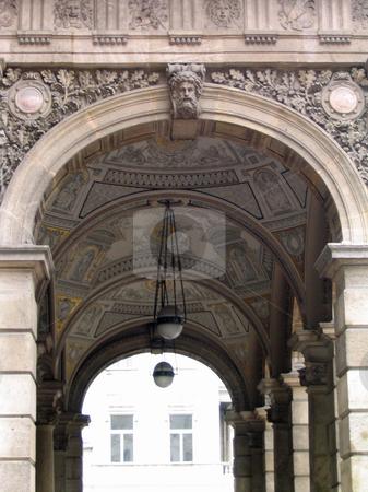 Archway of Budapest opera house stock photo, Opera house Archway in Budapest Hungary by Jaime Pharr
