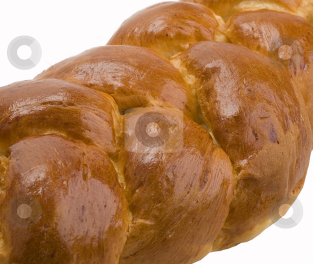 Bread stock photo, Delicious home made braided bread on white background by Jonathan Hull
