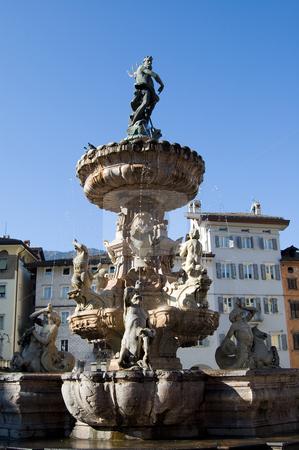 Trento fontana di Nettuno stock photo, A view from Piazza Duomo of the Neptune's fountain,Trento, Italy by Roberto Marinello