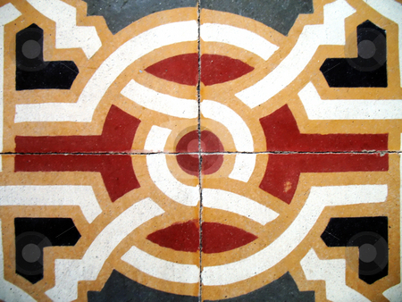 Old floor stock photo, Tiles of an ancient floor by Roberto Marinello