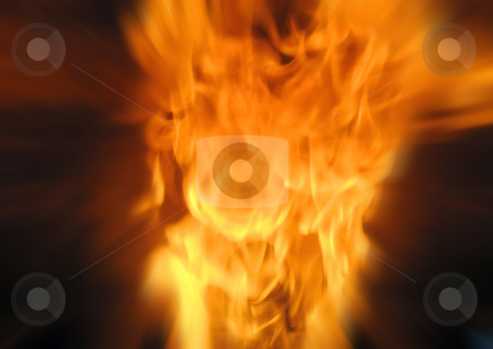 Fire explosion stock photo, Abstract flames in explosion by Roberto Marinello