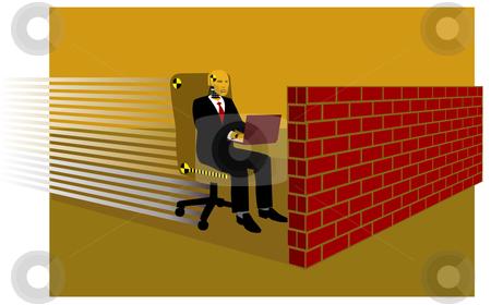 Dummy executive stock vector clipart, Conceptual illustration of a crash test dummy as an executive by Orven Enoveso