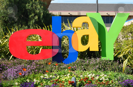 San Jose, California, March 28, 2009 - eBay Inc. Company Logo In stock photo, San Jose, California, March 28, 2009 - eBay Inc. Company Logo In Front of the Whitman Campus on a sunny day. by Denis Radovanovic