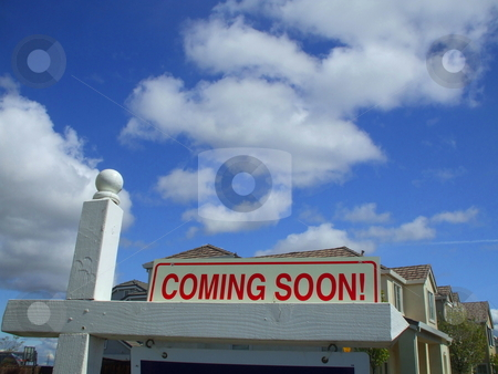 Coming Soon Sign stock photo,  by Michael Felix