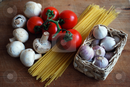 Vegetables stock photo, Picture of vegatables  on a wood table by Sarka