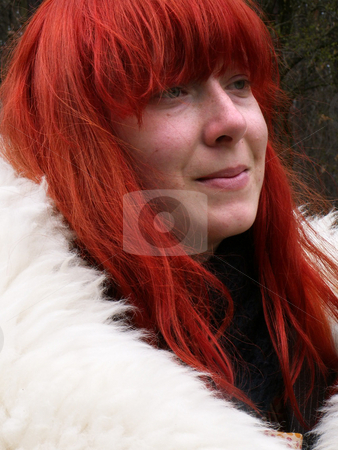 Portrait of girl stock photo, A portrait of a girl in sunny day by Sarka