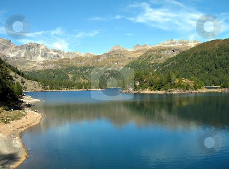 Alpine lake stock photo, Alpine lake