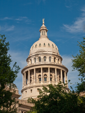 Texas State capitol dome, Austin, Texas stock photo, Vertical view of capitol dome, Austi, Texas by GB Tittle