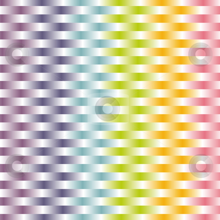 Woven background pastel pattern stock vector clipart, Woven background in pastel rainbow color pattern by Karin Claus