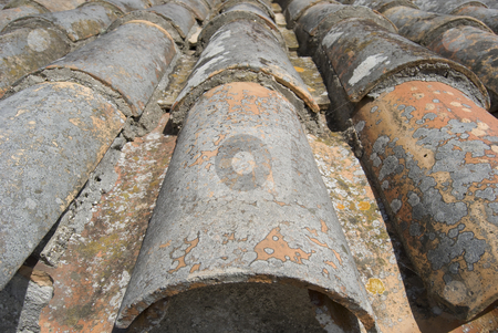 Old Tile Roof stock photo,  by MARIANELLA CELIO
