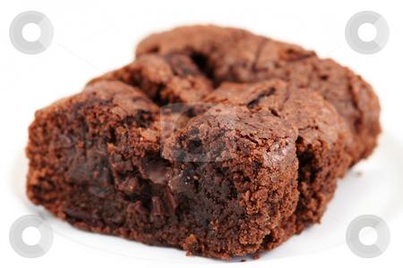 Homemade Chocolate brownies stock photo,  by Helen Shorey