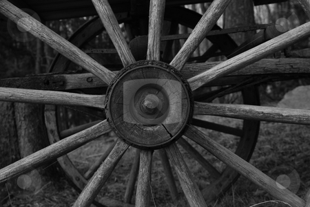 Wagon wheel stock photo,  by Andrew Kauffman