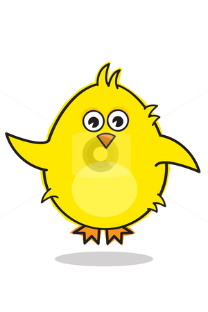 Little chick stock photo, Little chick trying to fly by Nancy Dunkerley