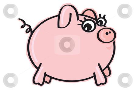 Little piggie stock photo, Little fat piggie by Nancy Dunkerley
