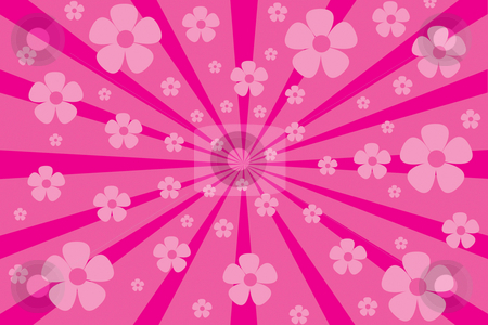 Pink flower burst stock photo, Pink flower burst background by Nancy Dunkerley