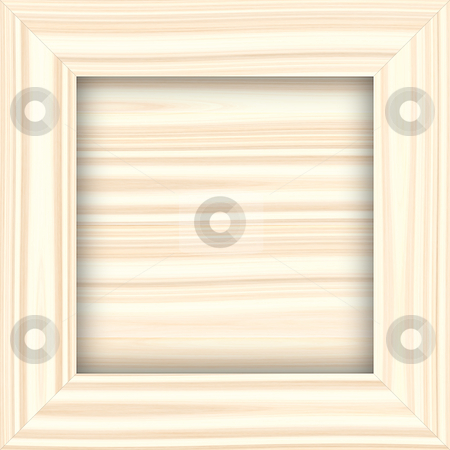 Light wooden frame stock photo, Square structured frame in light wood color by Wino Evertz
