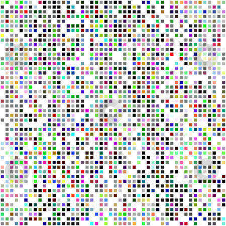 Color blocks pattern stock photo, Seamless texture of vibrant small square blocks on white by Wino Evertz