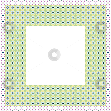 Pastel retro frame stock photo, Frame texture with ornamental pattern and empty center by Wino Evertz