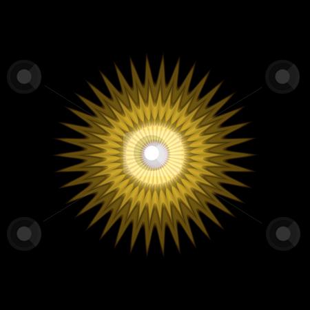 Sun mandala pattern stock photo, 3d texture of yellow to ochre sun rays by Wino Evertz