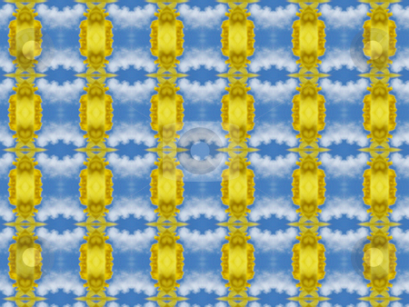 Blue and Yellow  stock photo, Blue and Yellow geometric abstract looks sunny and fresh by Sandra Fann