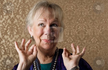 Eccentric Lady stock photo, Closeup Portrait of an Eccentric Senior Lady by Scott Griessel