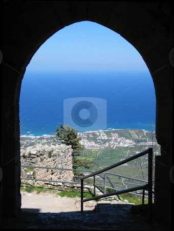 View from St Hilarions Castle stock photo, One of the spectacular views from St Hilarions castle, North Cyprus by Helen Shorey