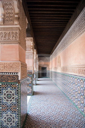 Marrakesh Ben Youssef Medersa stock photo, The Ben Youssef Medersa, an Islamic school attached to the Ben Youssef Mosquein in Marrakesh by Roberto Marinello