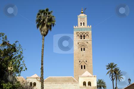 Marrakesh Koutoubia Minaret stock photo, A view from the garden of the Koutoubia Minaret in Marrakesh by Roberto Marinello