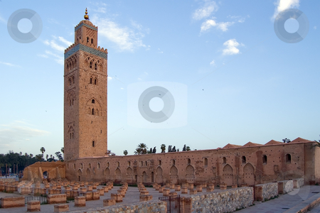 Marrakesh Koutoubia Minaret and Mosque stock photo, Koutoubia Minaret and the Mosque in the Marrakesh center, Morocco by Roberto Marinello
