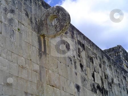Pelota chichen itza stock photo, Ruins of pelota game in maya city chichen itza, Mexico by Roberto Marinello