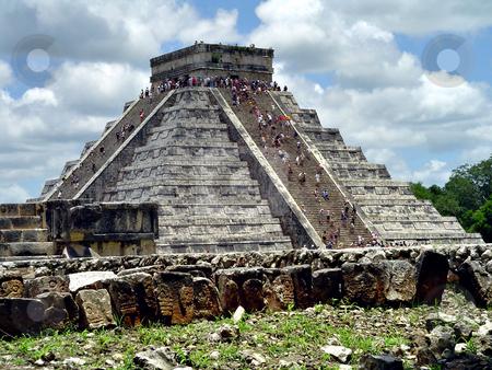 Chichen itza el castillo stock photo, El Castillo Pyramid, Chichen Itza, Yucatan, Mexico by Roberto Marinello