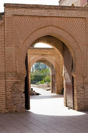 Marrakesh Koutoubia Mosque doorway stock photo, Koutoubia Mosque in Marrakesh, gates details, Moroc by Roberto Marinello