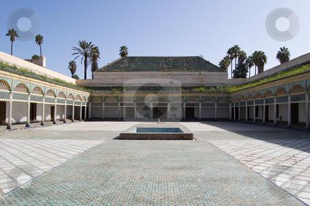 Marrakesh Bahia Palace patio stock photo, The Patio of the Bahia Palace in Marrakesh by Roberto Marinello