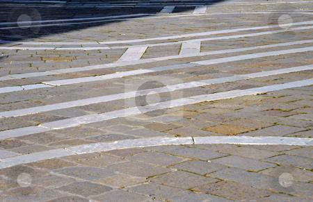 Flagstone mosaic stock photo, Flagstone mosaic in Venice, Italy by Jaime Pharr