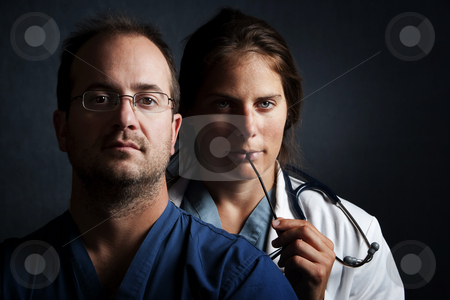 Health Care Professionals stock photo, Portrait of male and female health care professionals by Scott Griessel