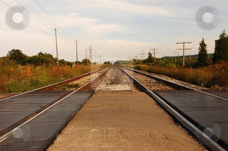 Rail road. stock photo, An rail road in beautiful late afternoon sunset going to anywhere. by Horst Petzold