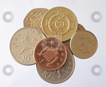 British currency stock photo, The coins of british currency by Ian Langley