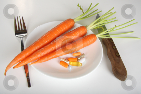 Carrots and vitamins stock photo, Diet and vitamins by R Deron